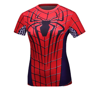 SPIDERMAN Compression Shirt for Women (Short Sleeve)