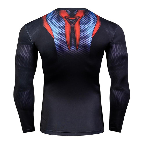 SPIDERMAN Long Sleeve Compression Shirt for Men