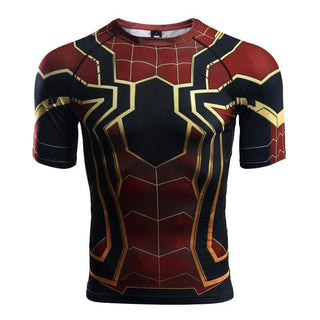SPIDERMAN Short Sleeve Compression Shirt for Men