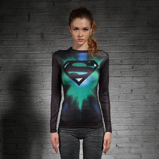 SUPERGIRL Compression Shirt for Women (Long Sleeve)