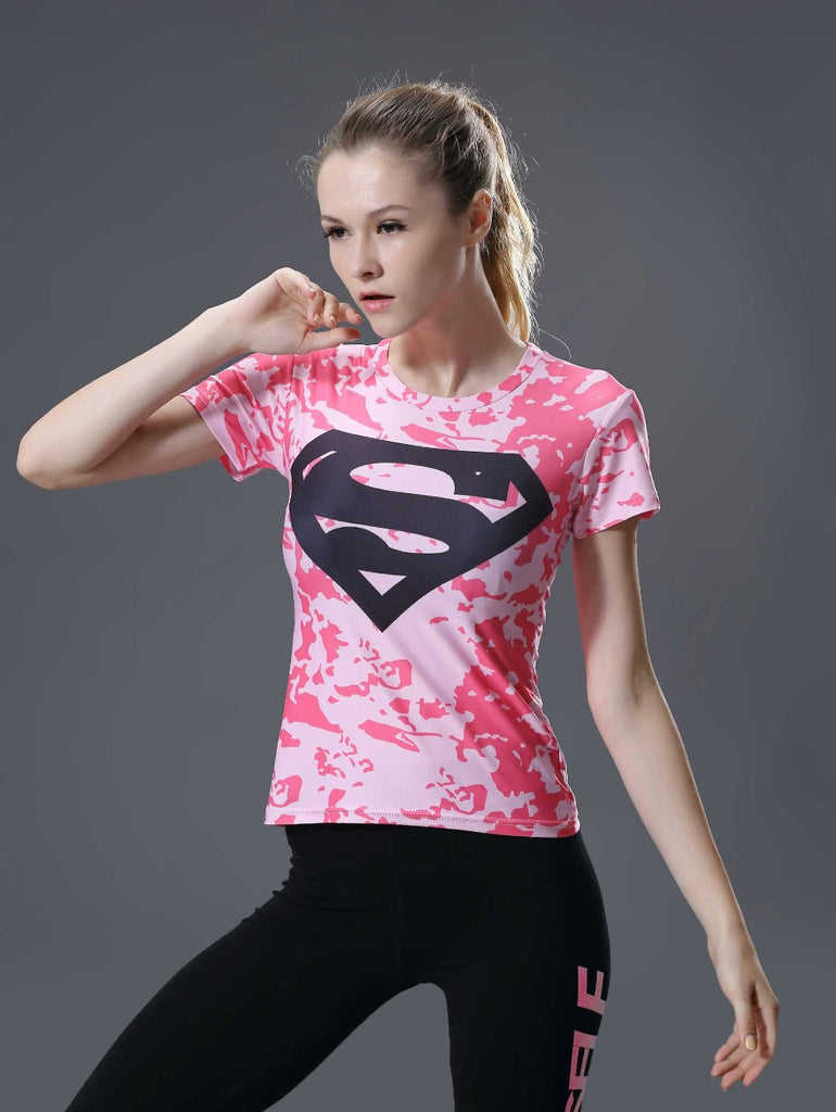 SUPERGIRL Compression Shirt for Women (Short Sleeve)