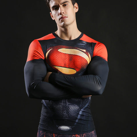 SUPERMAN Compression Shirt for Men (Long Sleeve)