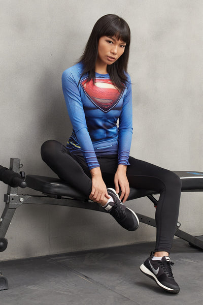 SUPERMAN Compression Shirt for Women (Long Sleeve)