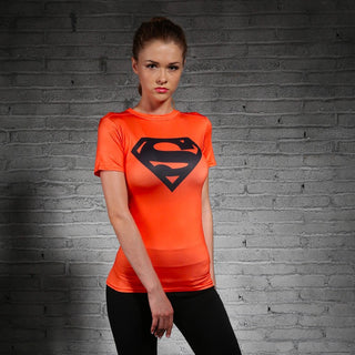 SUPERMAN Compression Shirt for Women (Short Sleeve)