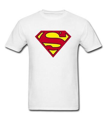 White SUPERMAN Tee Shirt for Men