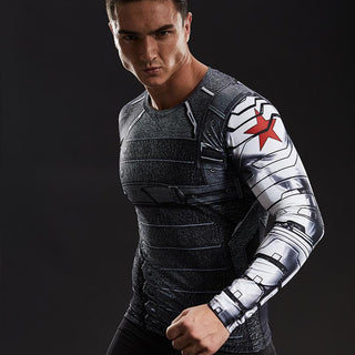 WINTER SOLDIER Compression Shirt For Men (Long Sleeve)
