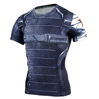 WINTER SOLDIER Compression Shirt for Men (Short Sleeve)