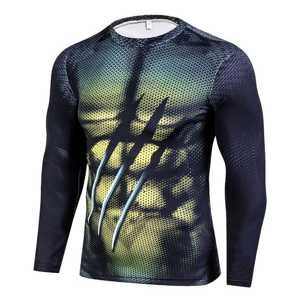 WOLVERINE Long Sleeve Compression Shirt for Men