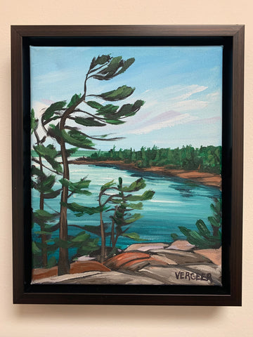 View from the Jumping Rocks, 8x10 Framed Canvas Painting