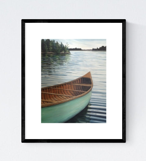 Aqua Canoe, Signed Limited Edition Print