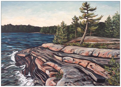 Bowers Bay Series Painting Postcard