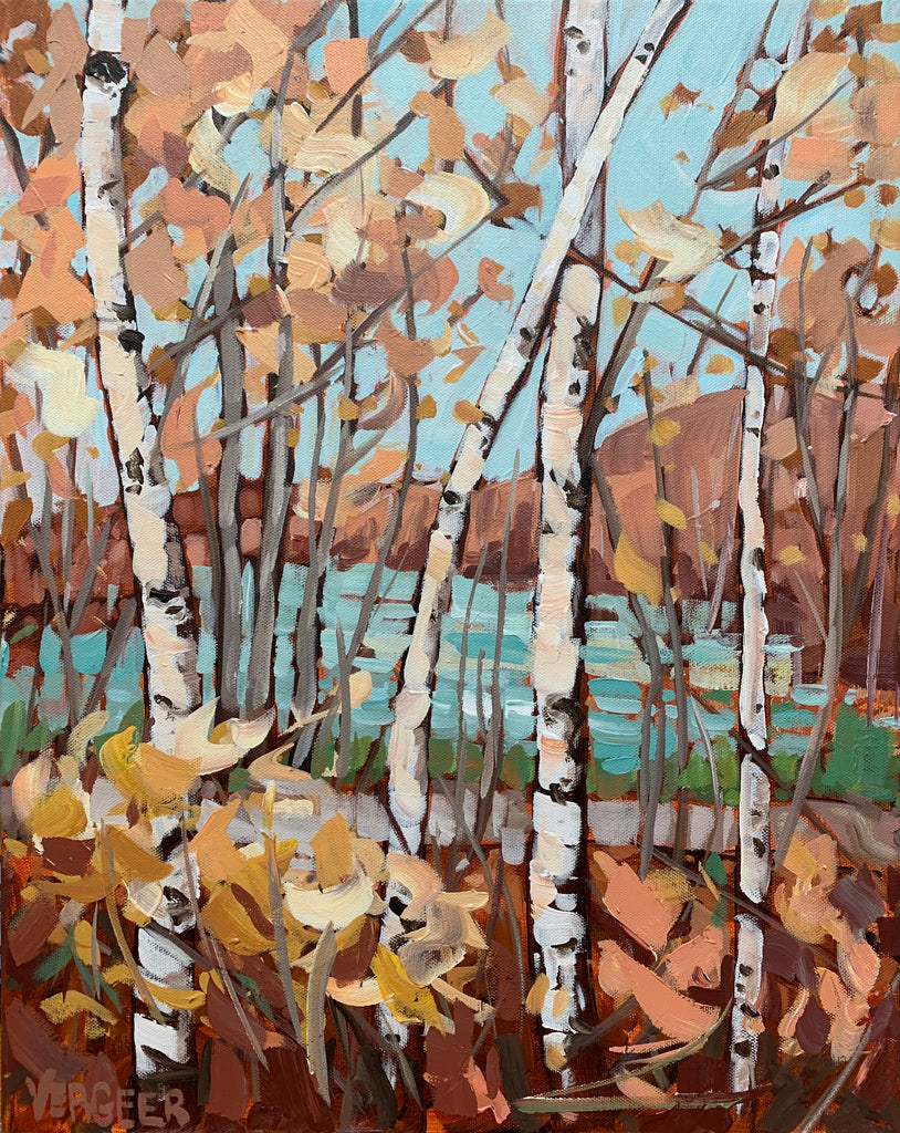 Boy Lake Birches - 16x20