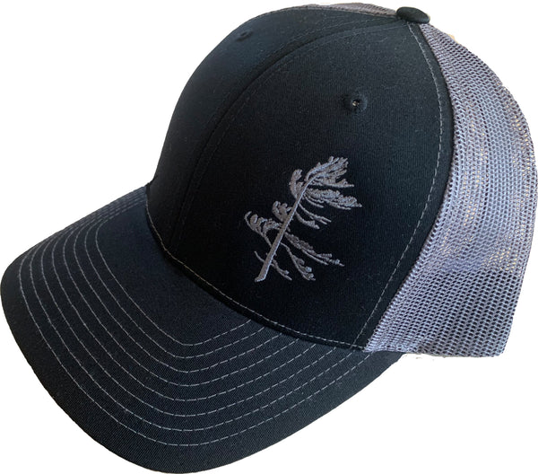 Black and Charcoal Truckers Hat
