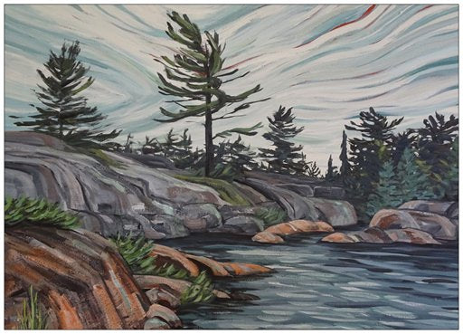 French River Provincial Park 1 Painting Postcard