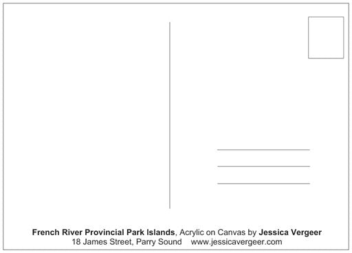 French River Provincial Park Islands Painting Postcard