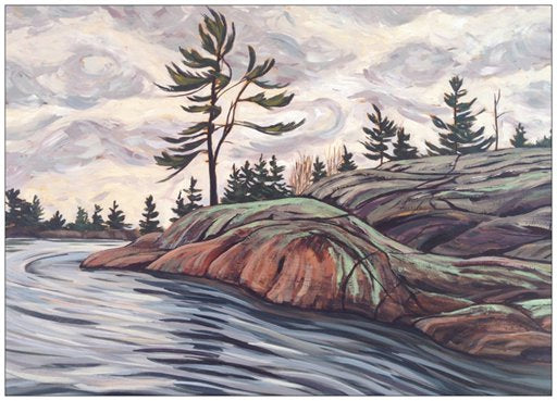 French River Provincial Park Series Painting Postcard