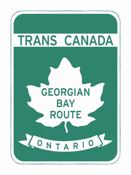 Georgian Bay Route Sign Poster