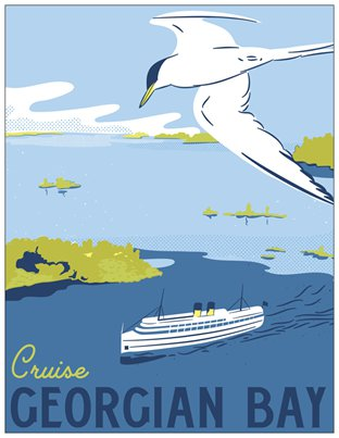 Cruise Georgian Bay Travel Postcard