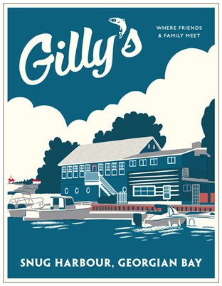 Gilly's Snug Harbour Restaurant Travel Postcard