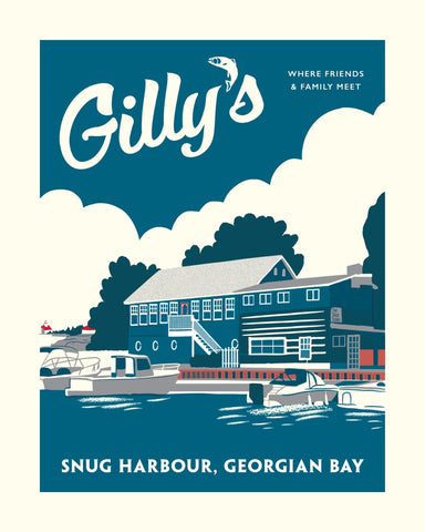 Gilly's Snug Harbour Restaurant Poster