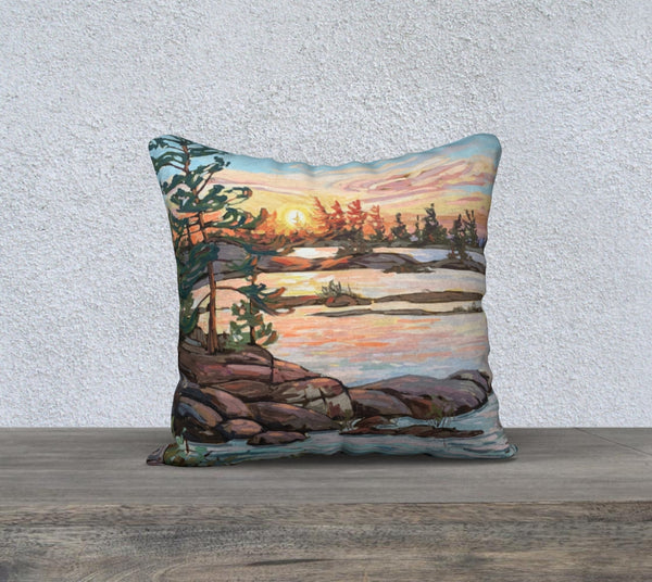 Hangdog Point 18x18 Cotton Canvas Throw Pillow (Pre-Order for Late June 2021)