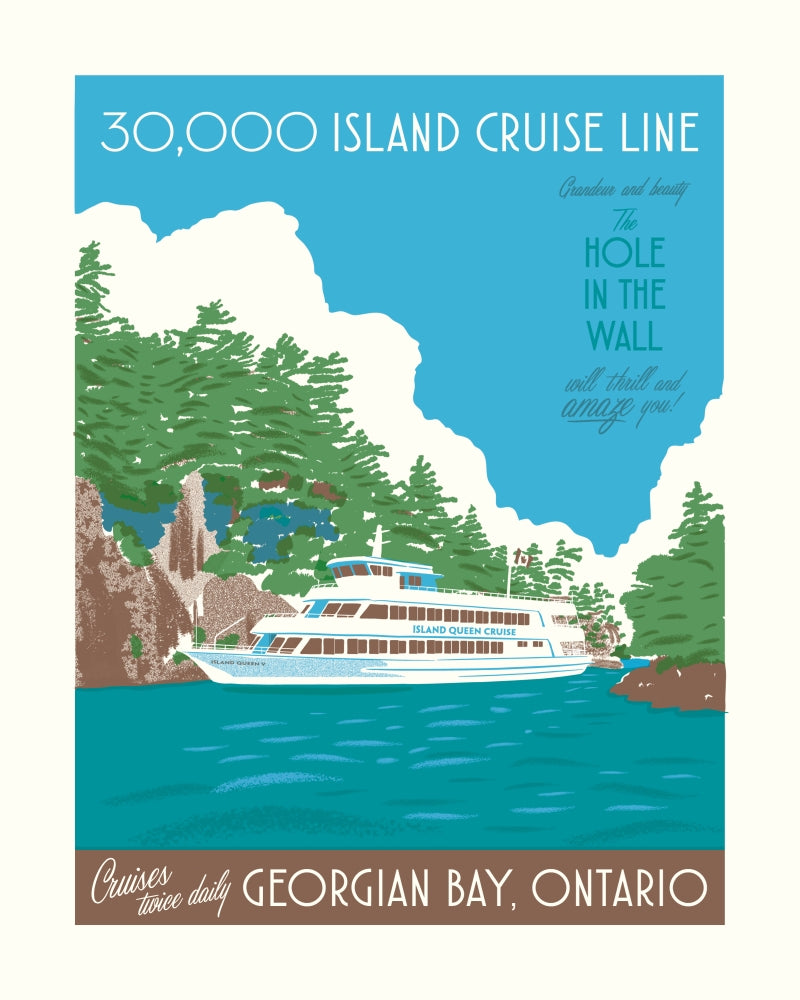 30000 Island Cruise Line Poster