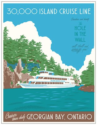 30000 Island Cruise Line Travel Postcard