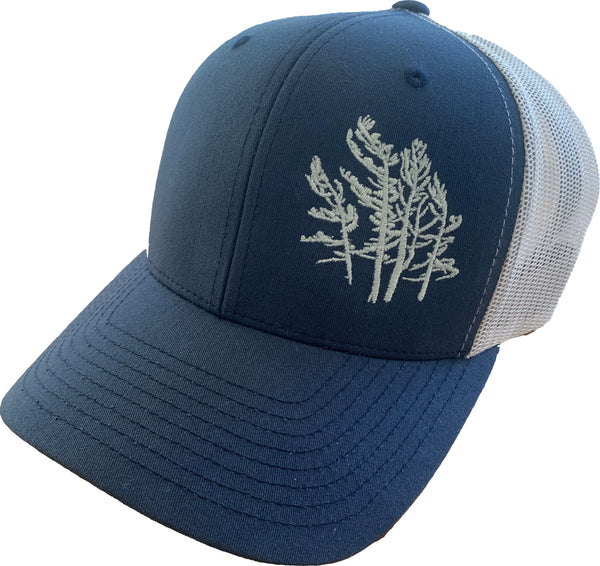 Navy and Silver Trucker Hat