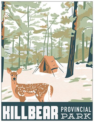 Killbear Provincial Park Travel Postcard