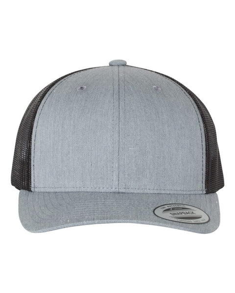 Heather Grey and Black Truckers Hat