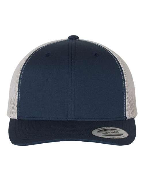 Navy and Silver Truckers Hat