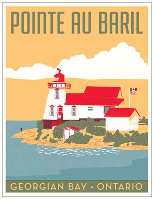 Pointe au Baril Travel Postcard