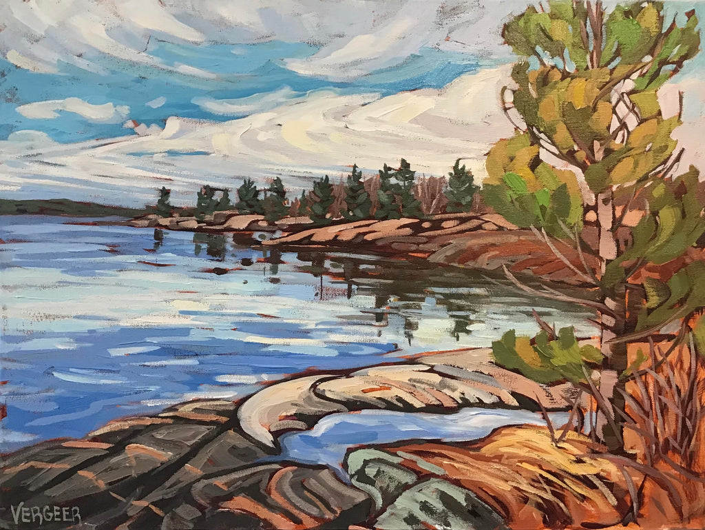 Rugged Trail Shoreline - 18x24