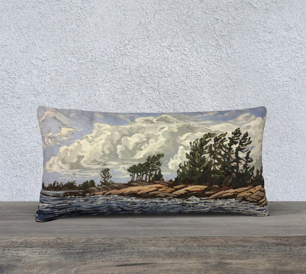 Snug Harbour 24x12 Cotton Canvas Throw Pillow (Pre-Order for Late June 2021)
