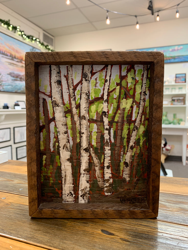 Spring Birches Miniature Painting