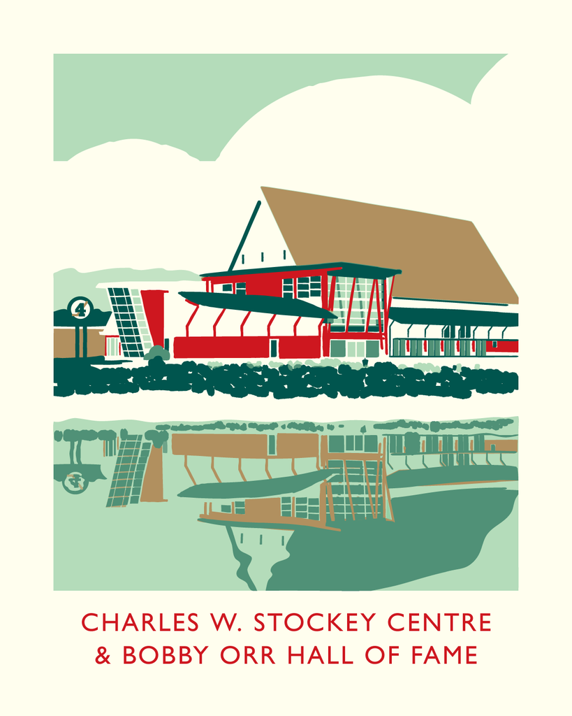 Charles W. Stockey Centre and Bobby Orr Hall of Fame Poster
