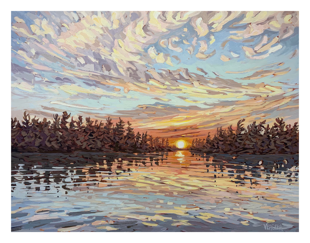 Sunset Near Good Cheer Island, Signed Limited Edition Print