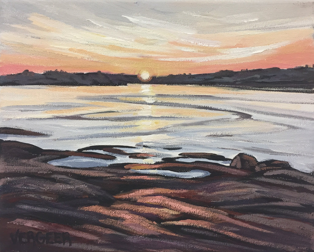 Sunset Rock Painting Class, Tuesday July 2, 10am - Noon