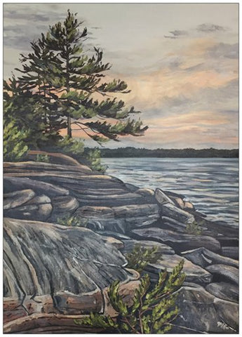 The Rugged Trail Painting Postcard