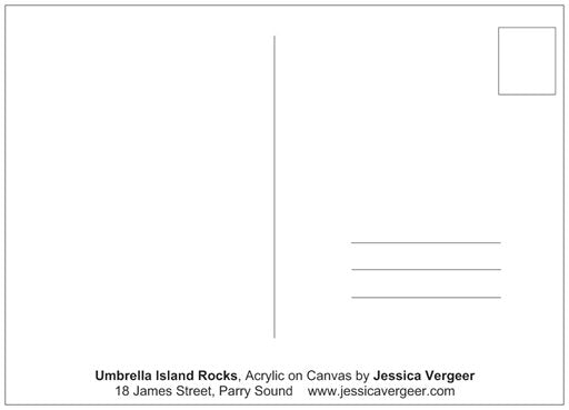 Umbrella Islands Rocks Painting Postcard