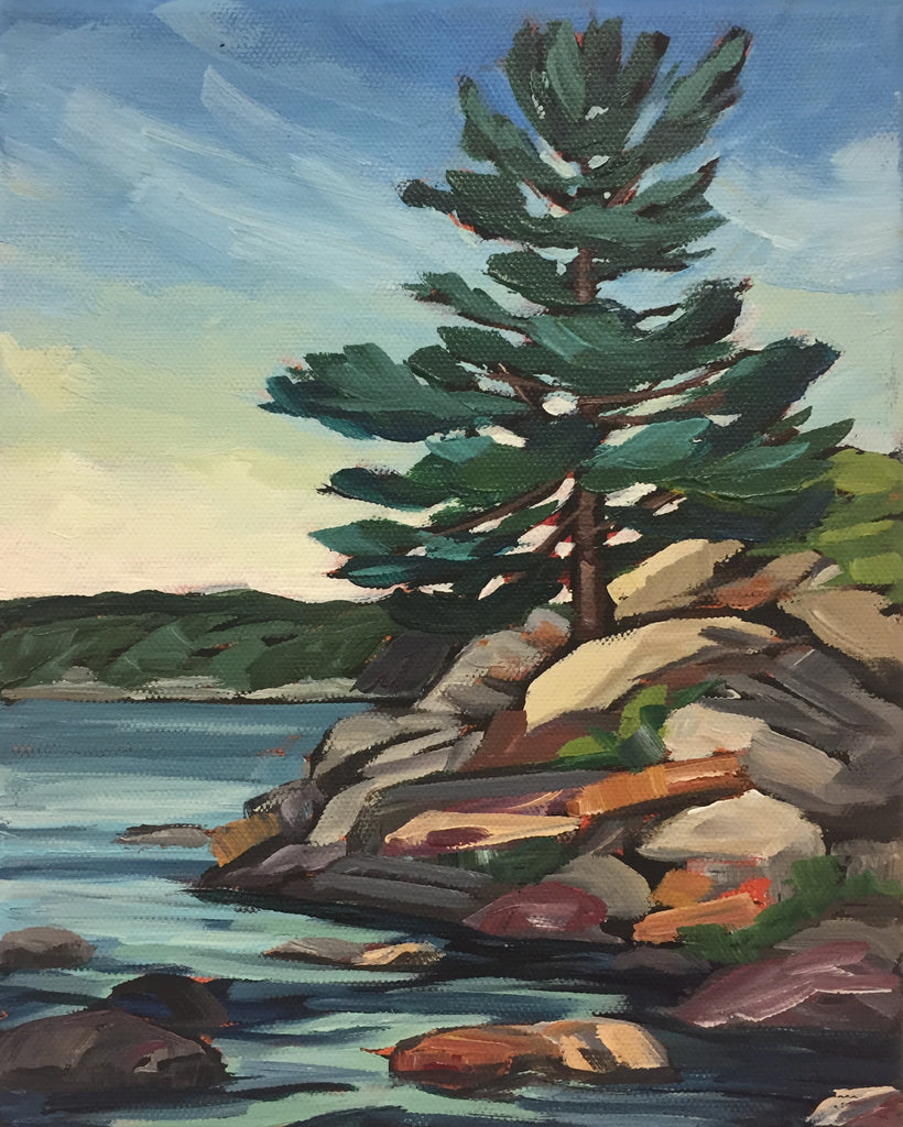 Waubuno Beach Rocks Painting Class, Sunday July 14, 1-3pm