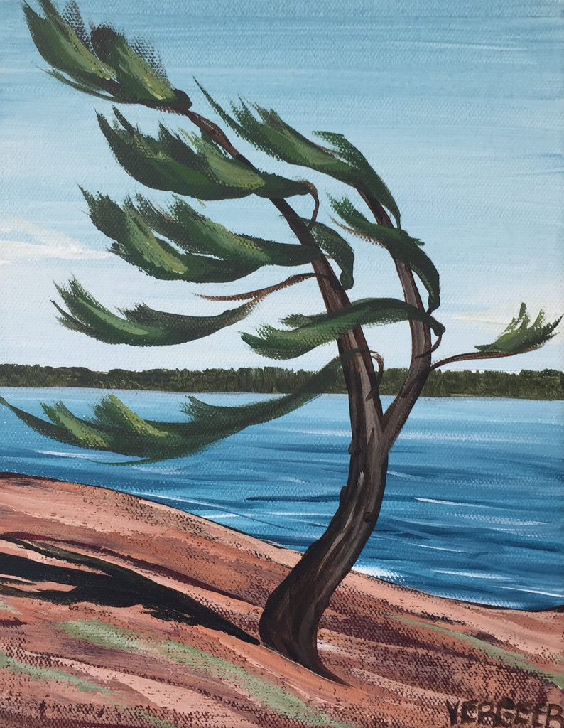 Killbear Windswept Pine Painting Class, Saturday July 27, 1-3pm
