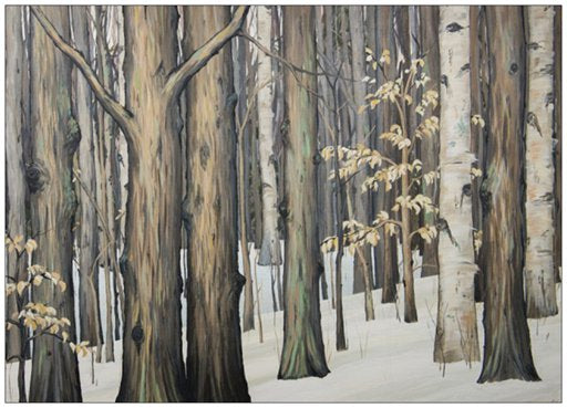 Winter Woods Painting Postcard