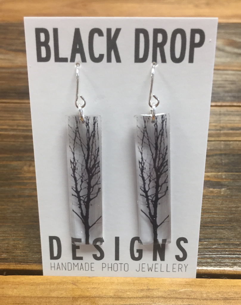 Black Drop Designs Tall Tree Earrings