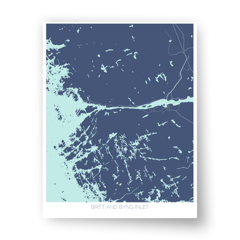Britt and Byng Inlet Art Map