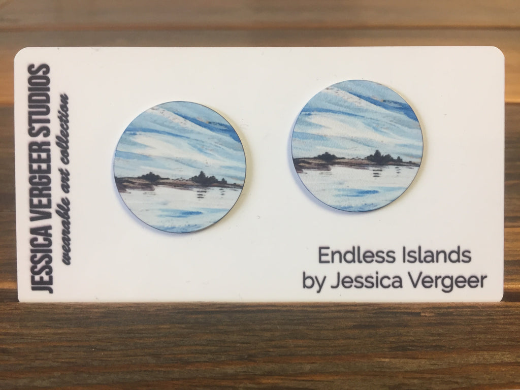 Endless Islands 1-inch Earrings