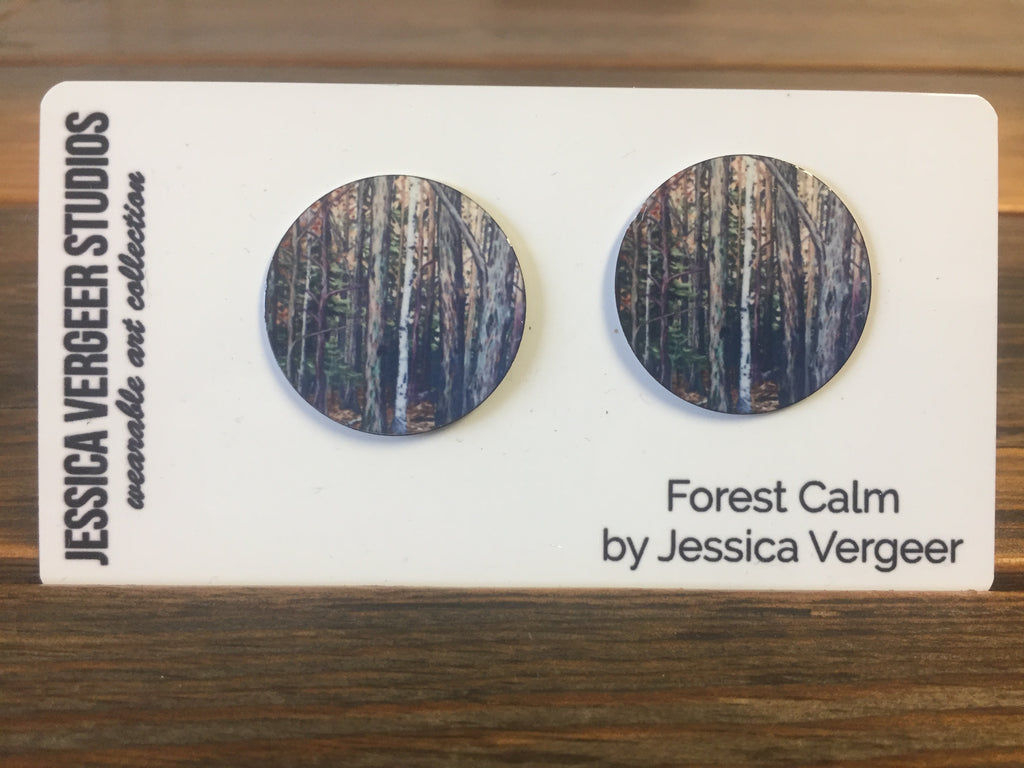 Forest Calm 1-inch Earrings