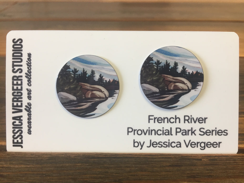 French River Provincial Park Series 1-inch Earrings