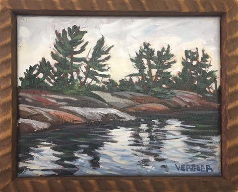 French River Provincial Park Shoreline 8x10 Framed Painting