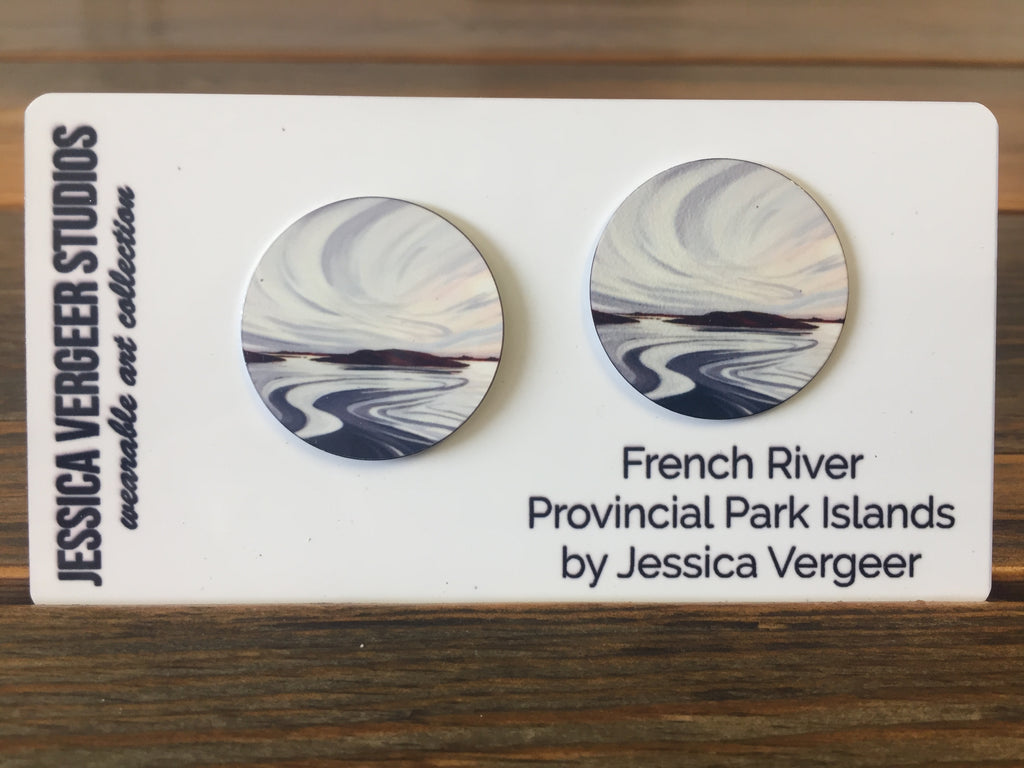 French River Provincial Park Islands 1-inch Earrings